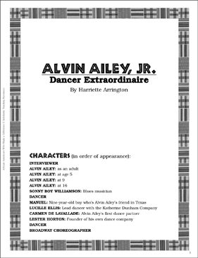 Alvin Ailey, Jr.: Play and Teaching Guide - Printable Worksheet