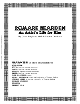 Romare Bearden: Play and Teaching Guide - Printable Worksheet