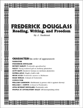 Frederick Douglass: Play and Teaching Guide - Printable Worksheet