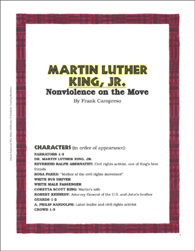 Martin Luther King, Jr.: Play and Teaching Guide - Printable Worksheet
