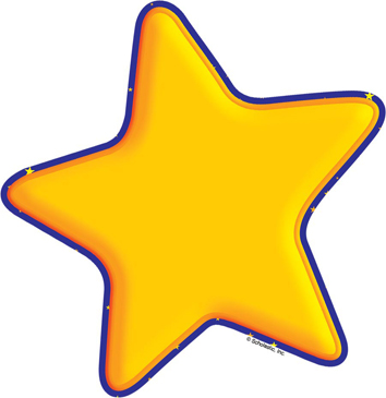 Gold Star - Image Clip Art