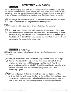 Activities and Games - Printable Worksheet