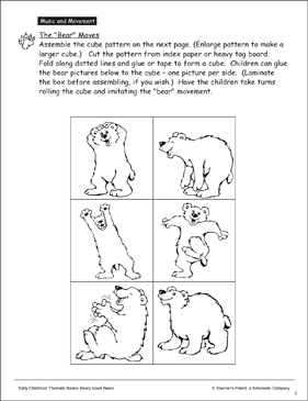 The Bear Moves: Creative Movement - Printable Worksheet