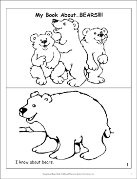 My Book About Bears! Mini-Book - Printable Worksheet