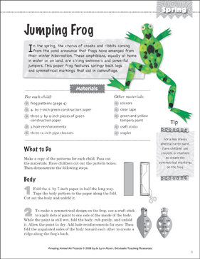 Jumping Frog: Animal Art Project - Printable Worksheet