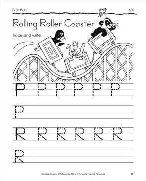 Rolling Roller Coaster (Uppercase P, R) | Printable Skills ...