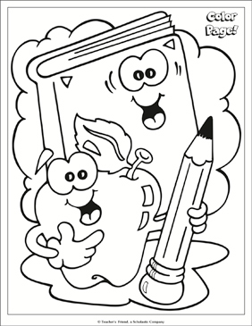 School Tools Coloring Page Printable Coloring Pages