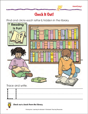 Check It Out!: Identifying Upper- and Lowercase L - Printable Worksheet