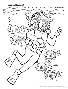diver coloring pages - photo#10