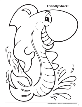 Shark tails coloring pages | 365x281