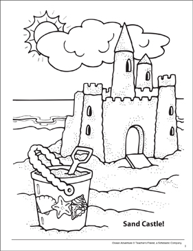 sand castle coloring pages - photo#26