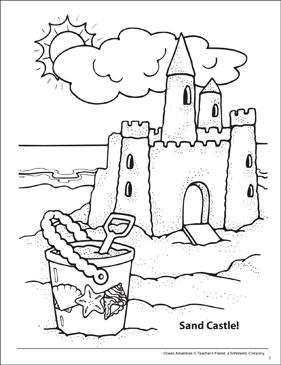 Sand Castle Ocean Adventure Coloring