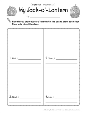 photo relating to Printable Jackolantern referred to as My Jack-o-Lantern: Attract and Compose Instructed Printable Capabilities