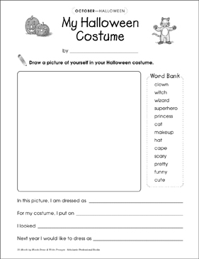 My Halloween Costume: Draw and Write Prompt | Printable