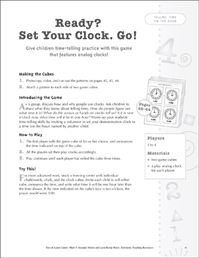 photograph regarding Telling Time Printable Game titled Organized? Mounted Your Clock. Transfer! Video game (telling season upon the hour