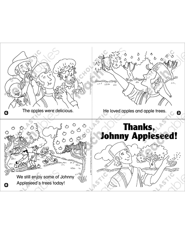 graphic relating to Johnny Appleseed Printable Story identified as Because of, Johnny Appleseed! Printable Mini-Textbooks