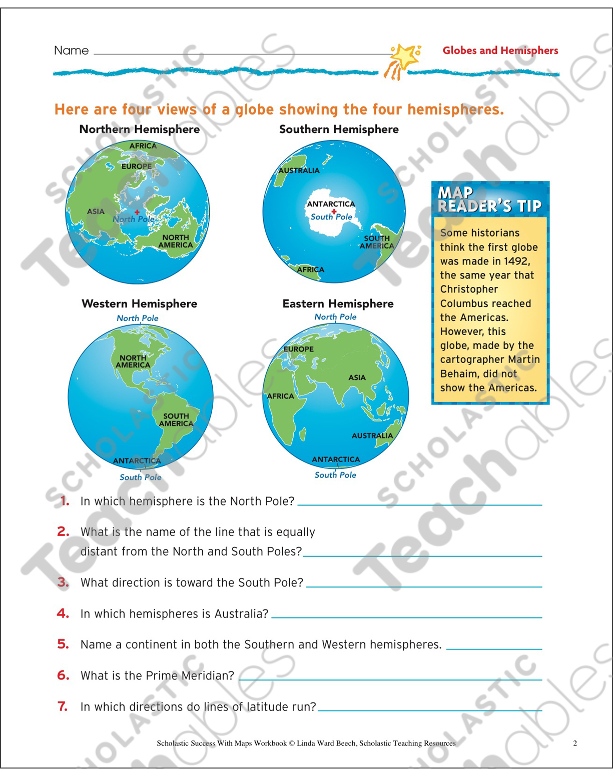 Worksheets. Hemisphere Worksheets. Pureluckrestaurant Free ...