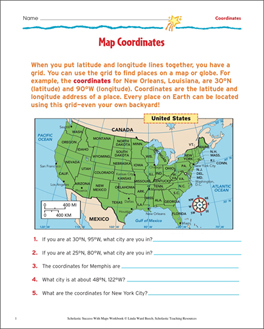 Latitude and Longitude Worksheets, Activities & Printable Lesson