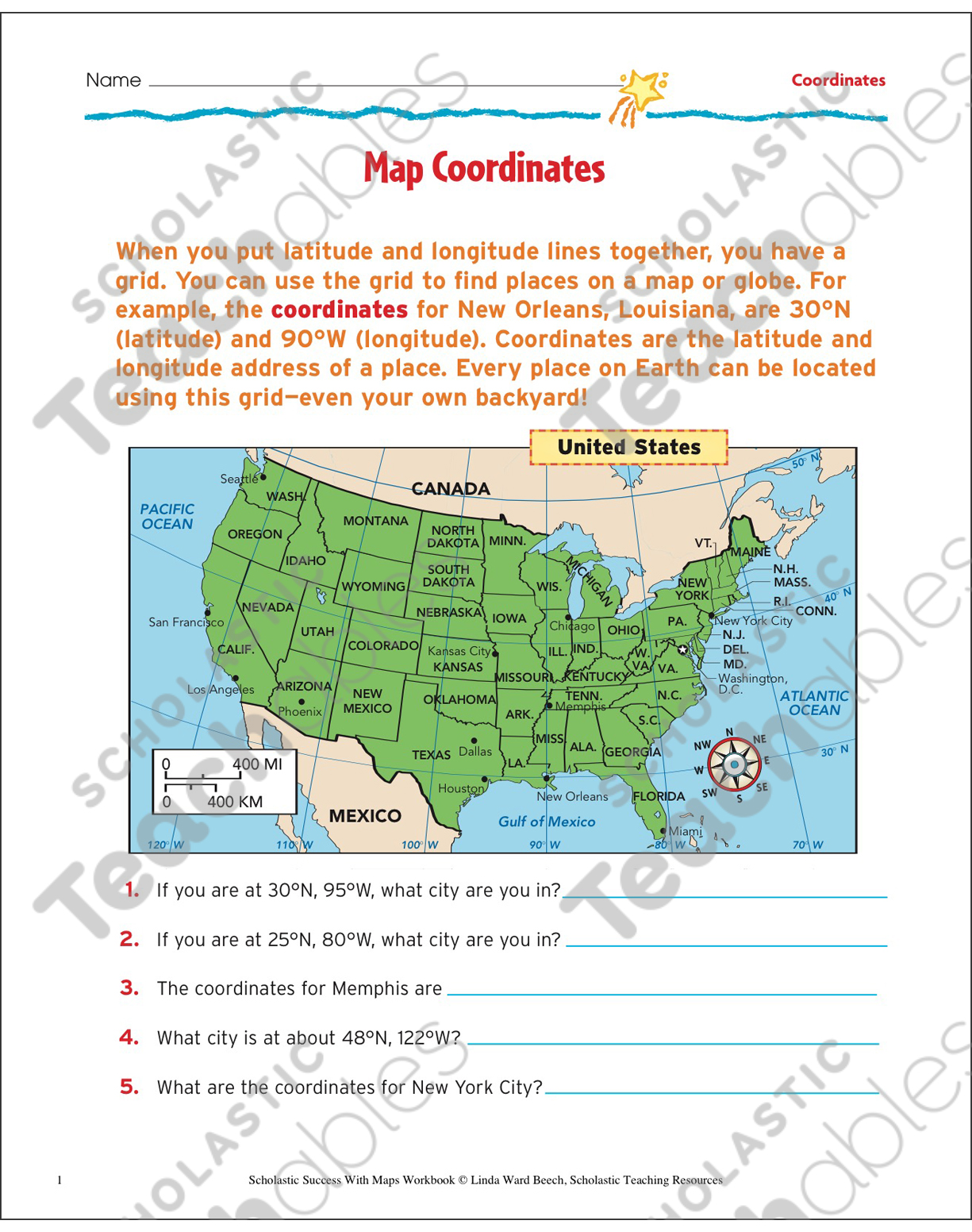 Map coordinates map skills printable maps and skills sheets see inside image sciox Image collections