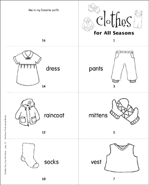 picture relating to Printable Clothes called Garments for All Seasons Printable Mini-Publications