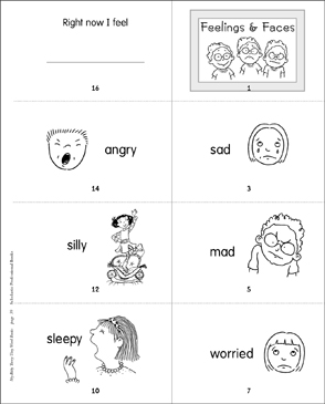 Feelings & Faces - Printable Worksheet