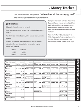 This is a photo of Declarative Free Printable Life Skills Math Worksheets
