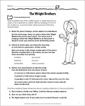 photograph relating to Poems for Two Voices Printable called The Wright Brothers: Fluency-Designing Train Printable