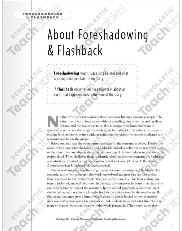 Spring Rain Poem Foreshadowing Flashback Printable Texts And. See Inside. Worksheet. Foreshadowing Worksheets At Clickcart.co