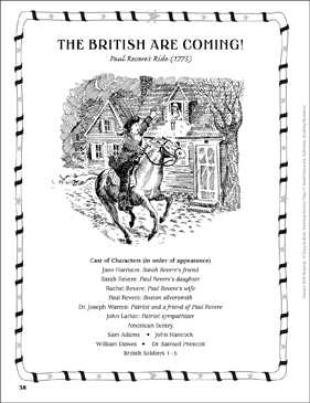 The British Are Coming (Paul Revere's Ride, 1775): Play - Printable Worksheet