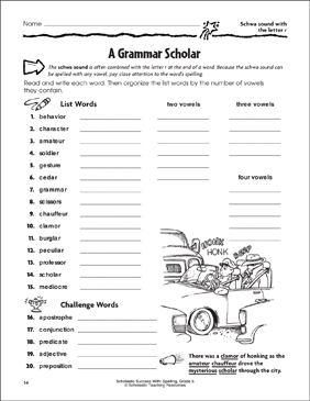 A Grammar Scholar (Schwa Sound With the Letter R ...