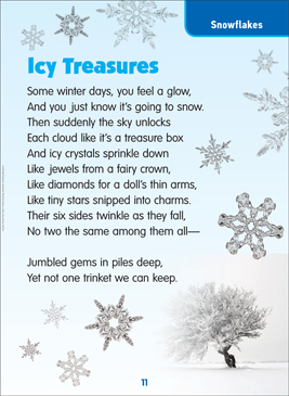 Icy Treasures: Science Poem - Printable Worksheet