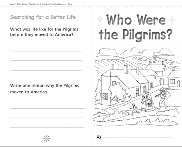 Who Were the Pilgrims? - Printable Worksheet