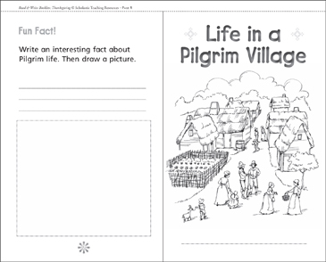 Life in a Pilgrim Village - Printable Worksheet