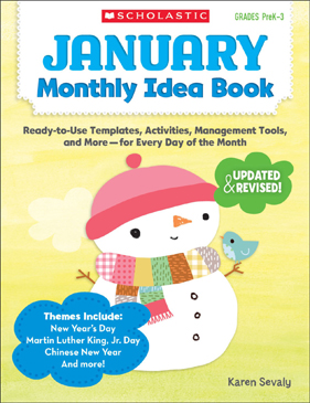 January Monthly Idea Book - Printable Worksheet