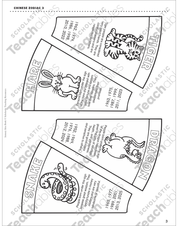 graphic about Chinese Zodiac Printable titled Chinese Zodiac Wheel Printable Craftivities