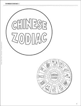 photograph regarding Chinese Zodiac Printable titled Chinese Zodiac Wheel Printable Craftivities