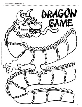 image about Printable Game Board identify Dragon Activity Board Printable History Folder Video games