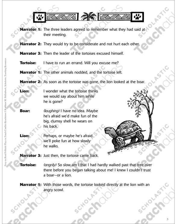 The Animal Meeting North Africa A Conflict Resolution Folktale. See Inside. Worksheet. Folktale Worksheets At Mspartners.co