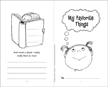 My Favorite Things - Printable Worksheet