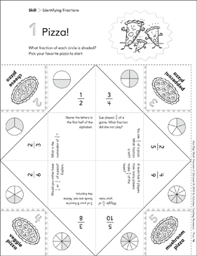 photograph relating to Fraction Manipulatives Printable identified as Pizza! (Pinpointing Fractions): Pleasurable-Flaps Math Manipulative