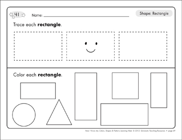 picture relating to Rectangle Printable known as Go through Create Condition Mats: Analyze (Circle, Sq., Triangle