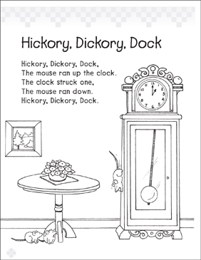 Hickory, Dickory, Dock - Printable Worksheet