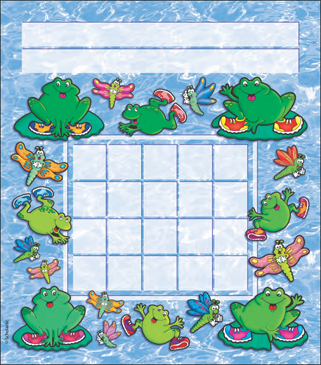 Hop-to-It Frogs: Incentive Chart - Printable Worksheet