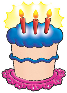 Birthday Cake With Blue Frosting - Image Clip Art