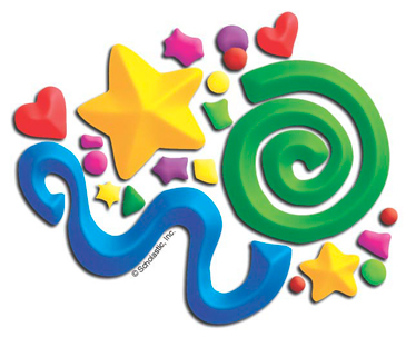 Squiggles and Stars - Image Clip Art