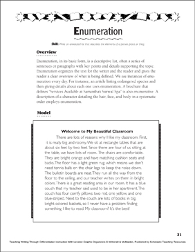 enumeration example paragraph