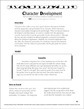 picture relating to Character Development Worksheet Printable titled Individuality Improvement Printable Image Organizers and