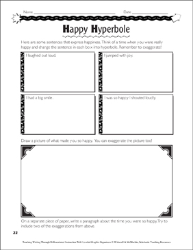Using Figurative Language: Leveled Graphic Organizers for Differentiated Instruction (Grades 4-8) - Printable Worksheet