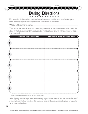How-To Essay: Leveled Graphic Organizers - Printable Worksheet