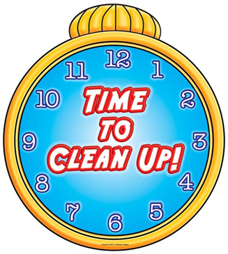 Time To Clean Up! - Image Clip Art